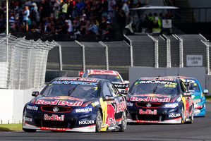 Jamie Whincup's rivalry with Mark Winterbottom started during the round in Pukekohe. Picture / Getty Images