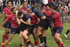 Violence erupts at the semi-final of the Auckland Grammar and Kelston Boys high school rugby match. Photo / Murray Job