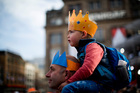Amsterdam in party mode as Netherlands gets its first king since 1890. Photo / AP