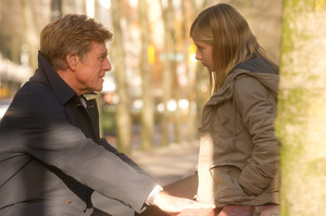 Robert Redford, here with Jackie Evancho who plays his daughter, made a mistake casting himself in They Company You Keep. Photo / AP