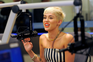 Miley Cyrus has just done her first big UK cover.Photo / AP