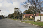 Red Zone properties on Kingsford Street in Burwood. Photo / APN
