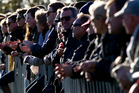 Supporters watch a First XV rugby match from the sidelines. File Photo / Sarah Ivey