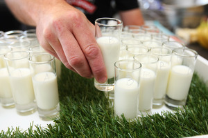 Historically, high milk prices have tended to drive the dividend lower. Photo / Chris Gorman