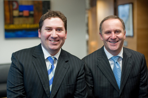 MP Aaron Gilmore with John Key. Photo / File / Supplied