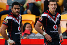 Warriors Bill Tupou (l) and Carlos Tuimavave. Photo / Getty Images.