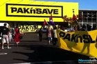 Around 20 protestors gathered outside PAK'nSAVE in Auckland's Royal Oak to protest against the introduction of youth wages (Video: Natasha Jojoa Burling)