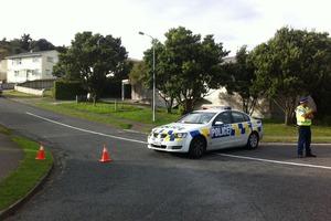 The police cordon at Penguin Grove. Photo / Rebecca Quilliam