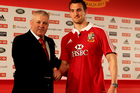 Kiwi Warren Gatland with Lions captain Sam Warburton. Photo /Getty Images