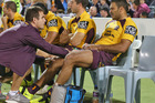 Justin Hodges will miss tomorrow's clash with the Rabbitohs. Photo /Getty Images