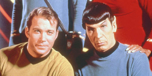 William Shatner and Leonard Nimoy in the original Star Trek. Photo/supplied