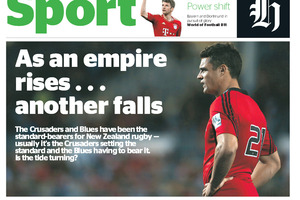 The Herald sport lead for April 30.