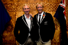 Hamish Bond and Eric Murray after they were presented the Member of New Zealand Order of Merit. Photo / Dean Purcell