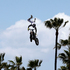 Rich Kearns performs during a Red Bull freestyle motocross demonstration in Venice, California. Photo / AP