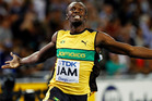 Six-time Olympic gold medallist Usain Bolt edged teammate Kemar Bailey-Cole in a photo finish to win the 100 metres at the Cayman Invitational track meet on Wednesday. Photo / Getty Images.