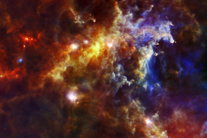 The Rosette nebula, captured by the Herschel Space Observatory. Photo / Wikimedia Commons