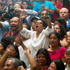 People celebrate the judge's guilty verdict for Guatemala's former dictator Jose Efrain Rios Montt during his genocide trial in Guatemala City. Photo / AP