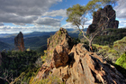 A sweeping vista at Warrumbungle National Park in NSW. Photo / Getty Images