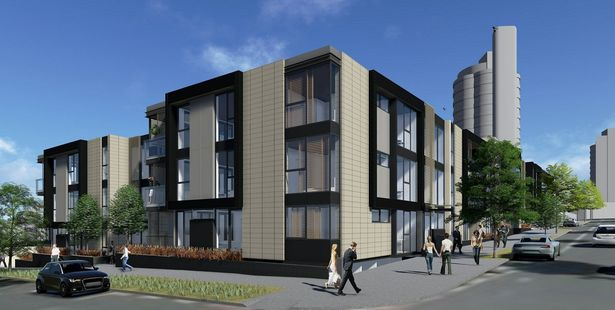 An architect's impression of a new development of 14 apartments on the site of the Ponsonby Bowling Club. Photo / Supplied