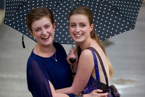 Grace Francis and her identical twin sister Olivia. Photo / Sarah Ivey