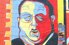 The mural of Gerry Brownlee at New Brighton Mall. Photo / Geoff Sloan