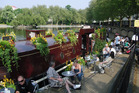 Canalside cafe at Little Venice, London. Photo / Simon Wood