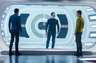 Zachary Quinto, Benedict Cumberbatch and Chris Pyne in 'Star Trek: Into The Darkness'. Photo / Supplied