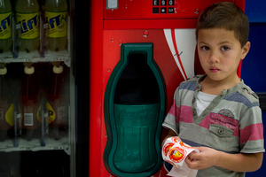 Kaea Manukau-Clerke's arm was caught in the vending machine for 45 minutes. Photo / Sarah Ivey