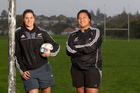 Black Ferns Eloise Blackwell (left) and Doris Taufateau are headed towards teaching jobs now their degrees are finished. Photo / Richard Robinson