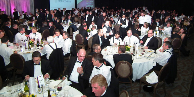 It was surely no accident that Moa beer was the only one on the menu at the finance industry awards. Photo / Greg Bowker
