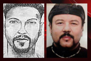 An FBI sketch, left, of a suspect in the kidnapping of Gina DeJesus, and an old photograph of Ariel Castro. Photo / Supplied