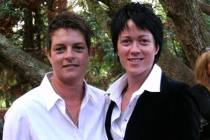 Jane Collinson (right) has lodged a Human Rights Commission complaint over a lodge-owner's rebuff to her and partner Paula Knights. Photo / Supplied