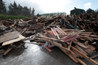 Not all wood at the Waitakere Refuse Centre is suitable for burning.