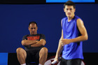 John Tomic has been a menacing presence behind son Bernard. Photo / Getty Images