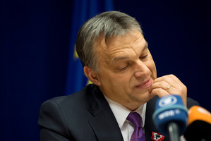 PM Viktor Orban has been criticised for not taking a firm stance against anti-Semitism.  Photo / AP