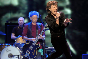 Keith Richards (left) upset Mick Jagger by poking fun at him in his bestselling biography. Photo / AP