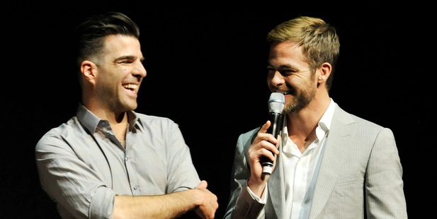 Zachary Quinto, left, and Chris Pine. Photo / AP