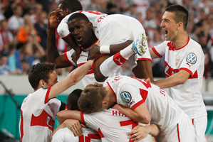 German team VfB Stuttgart. Photo / AP