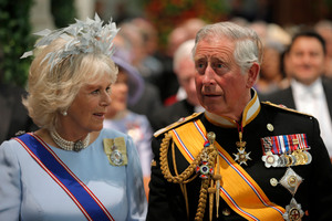 Britain's Prince Charles and his wife Camila, Duchess of Cornwall. Photo / AP