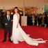 Designer Francisco Costa, left, and Katie Holmes.Photo / AP