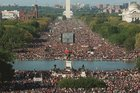 Even this image of the Million Man March doesn't show a full million extra people. Photo / AP