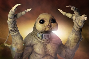 The Slitheen monster on Doctor Who is not as freaky as the beak of a giant squid. Photo / Supplied