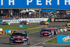 Craig Lowndes picked up his second win this year, at the V8 Supercars series in Perth. Photo / Mark Horsburgh