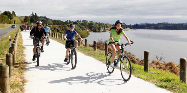 The Karapiro Cycle and Walkway. Photo / Christine Cornege