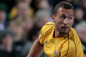 Quade Cooper is fighting for inclusion in the Wallabies. Photo / Richard Robinson