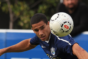 Auckland City's Alex Feneridis in action. Photo / Greg Bowker