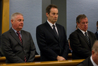 Capital and Merchant Finance director Wayne Douglas, director Neal Nicholls and former boss Owen Tallentire in the dock at Auckland High Court last year. Photo / Sarah Ivey