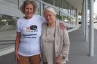 Cats to Stay Army member Jean Williams and Paihia Cat Colony founder Betty Chapman. Photo / APN