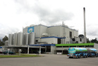 A tanker arrives at  Fonterra's milk processing plant near Pahiatua. Fonterra says the season's milk collection is down 0.5 per cent, with one month of the season left to run. Photo / APN