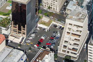 The empty space is now used as a carpark, but it is surrounded by some of Auckland's most valuable real estate. Photo / Supplied